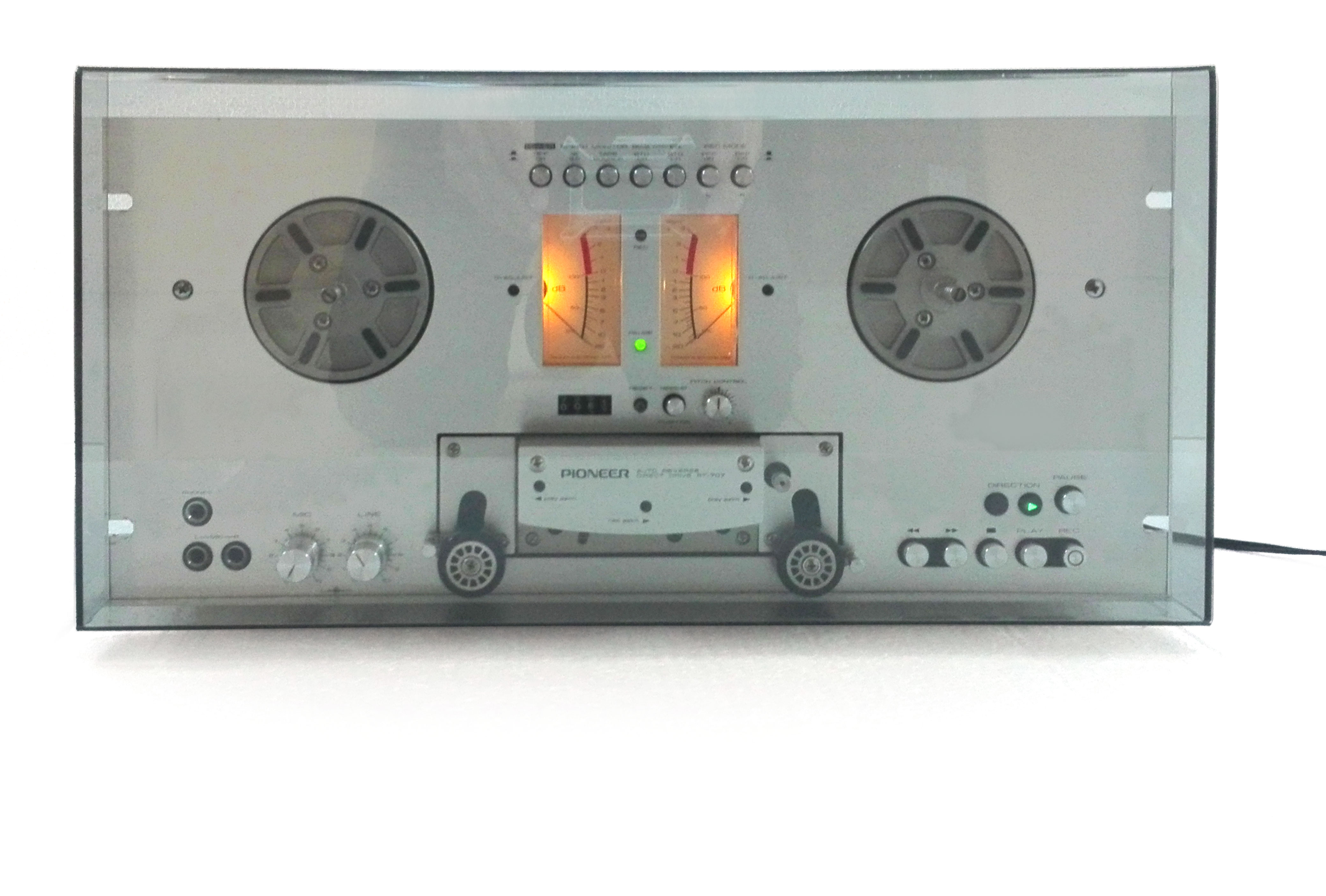 NEW Grey Dust Cover for Pioneer RT-707 RT-701 RT-909 RT-901 Reel Tape Recorder