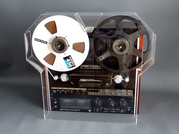 Custom Made Dust Cover With Extensions for Teac