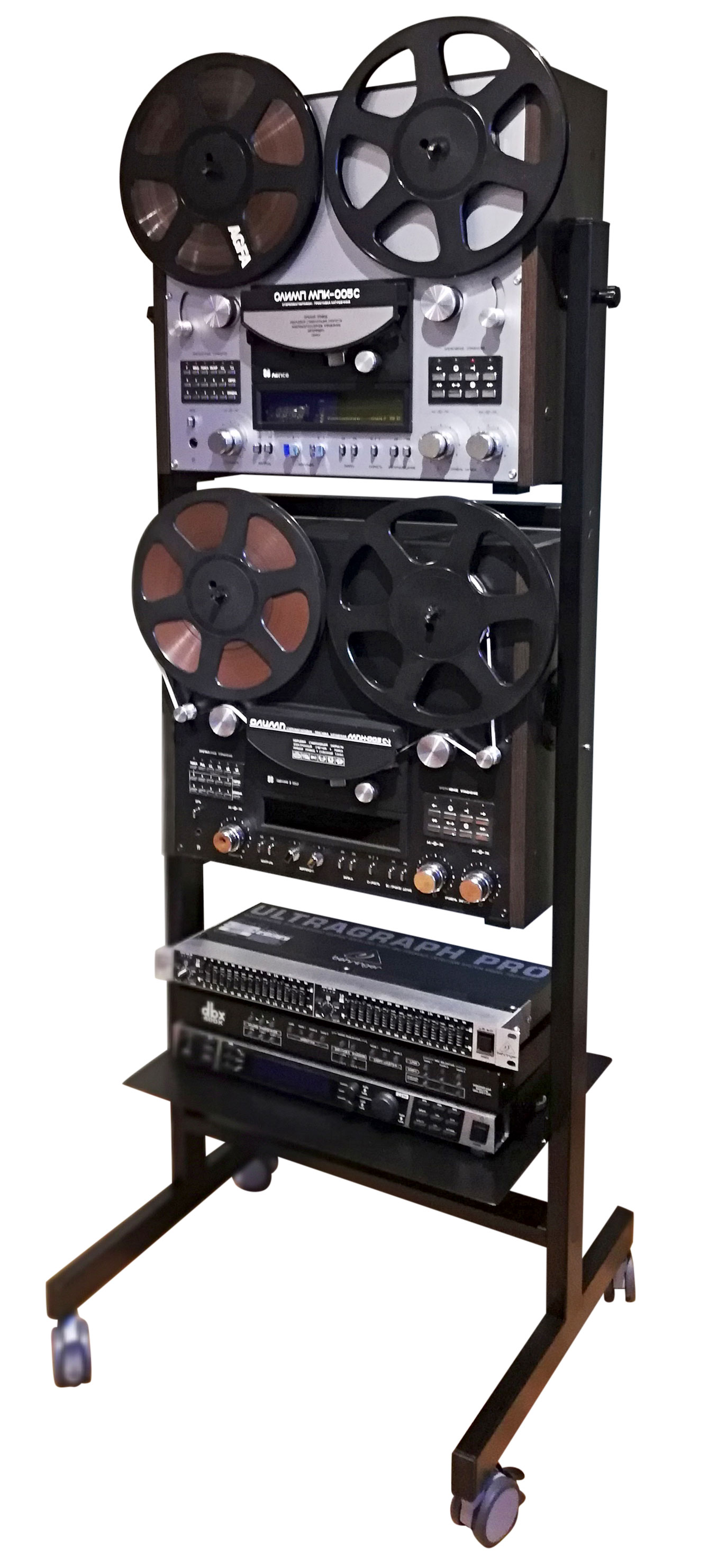 Custom Made Double Stand for Other Reel to Reel Recorder