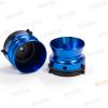 "Colored NAB Adapter Pair 1/4"" 6.3mm Metal Hinged White Box - Blue R39665"