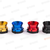 """Colored NAB Adapter Pair 1/4"""" 6.3mm Metal Hinged White Box - Silver Gold Black Red Blue"""
