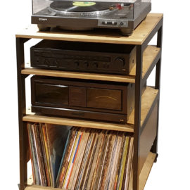 Custom Made Stand with Multiple Shelves for Any Reel to Reel Recorders