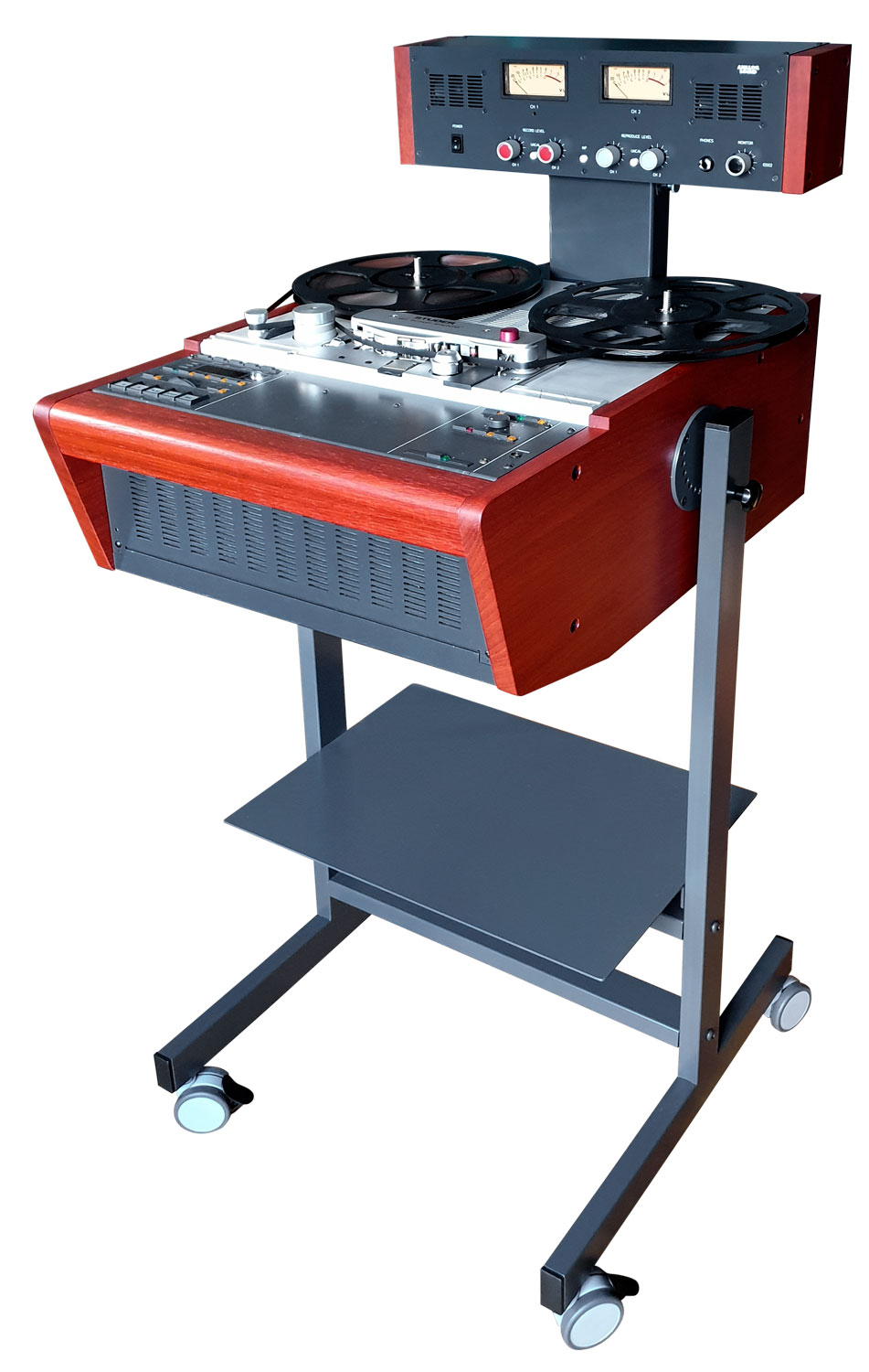 Custom Made Stand Trolley with Meter Bridge for Studer A807, A810, A67, B67 etc. Reel to Reel Recorders